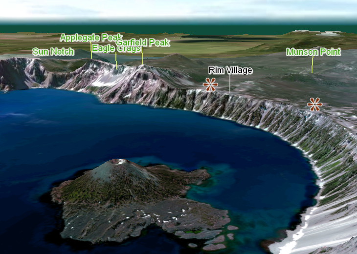 Crater Lake 3D Map US National Parks GeoFlyer 3D Maps GeoMind