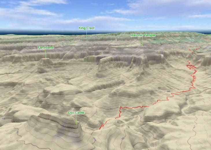 Grand Canyon 3D Map US National Parks GeoFlyer 3D Maps GeoMind